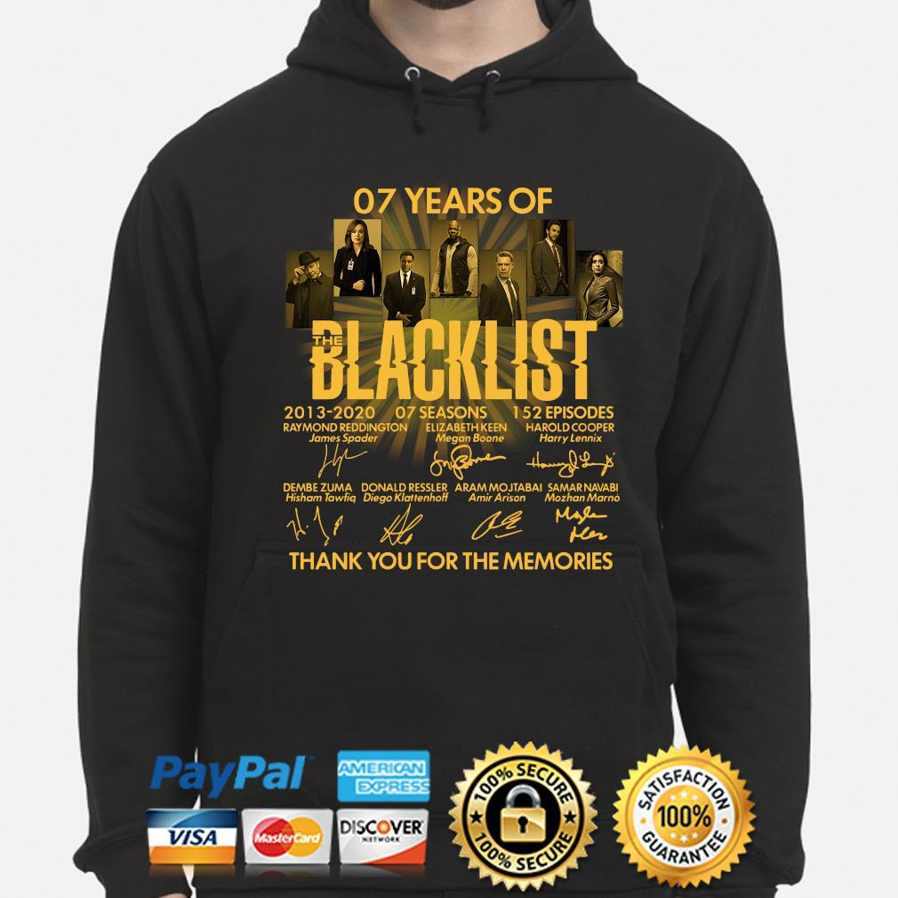 07 years of Blacklist thank you for the memories signatures s hoodie