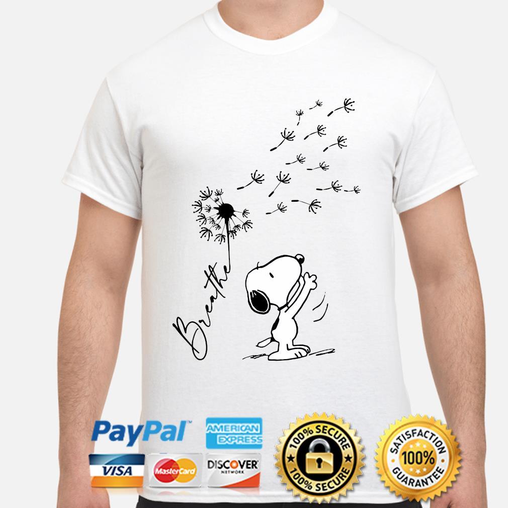 Snoopy Dandelions Breathe shirt