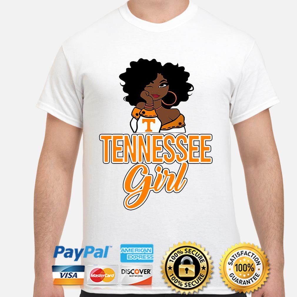 Black Girl Oklahoma Tennessee girl shirt