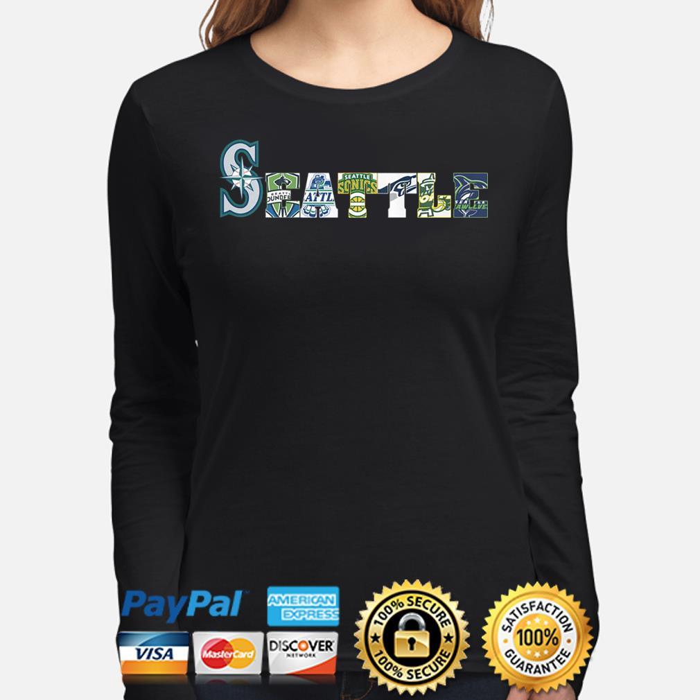 Seattle Mariners Thunderbirds Supersonics Seahawks Storm Seawolves s long-sleeve