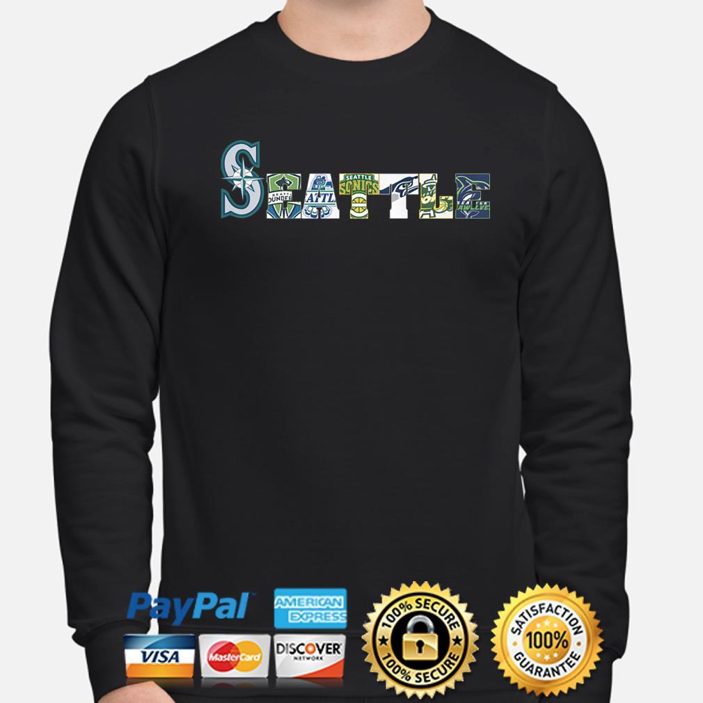 Seattle Mariners Thunderbirds Supersonics Seahawks Storm Seawolves s sweater