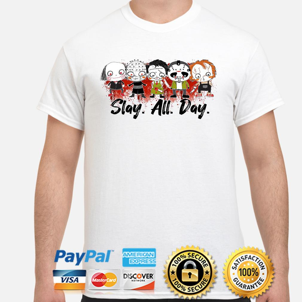 Slay All Day Horror Movie Killers Sublimate shirt