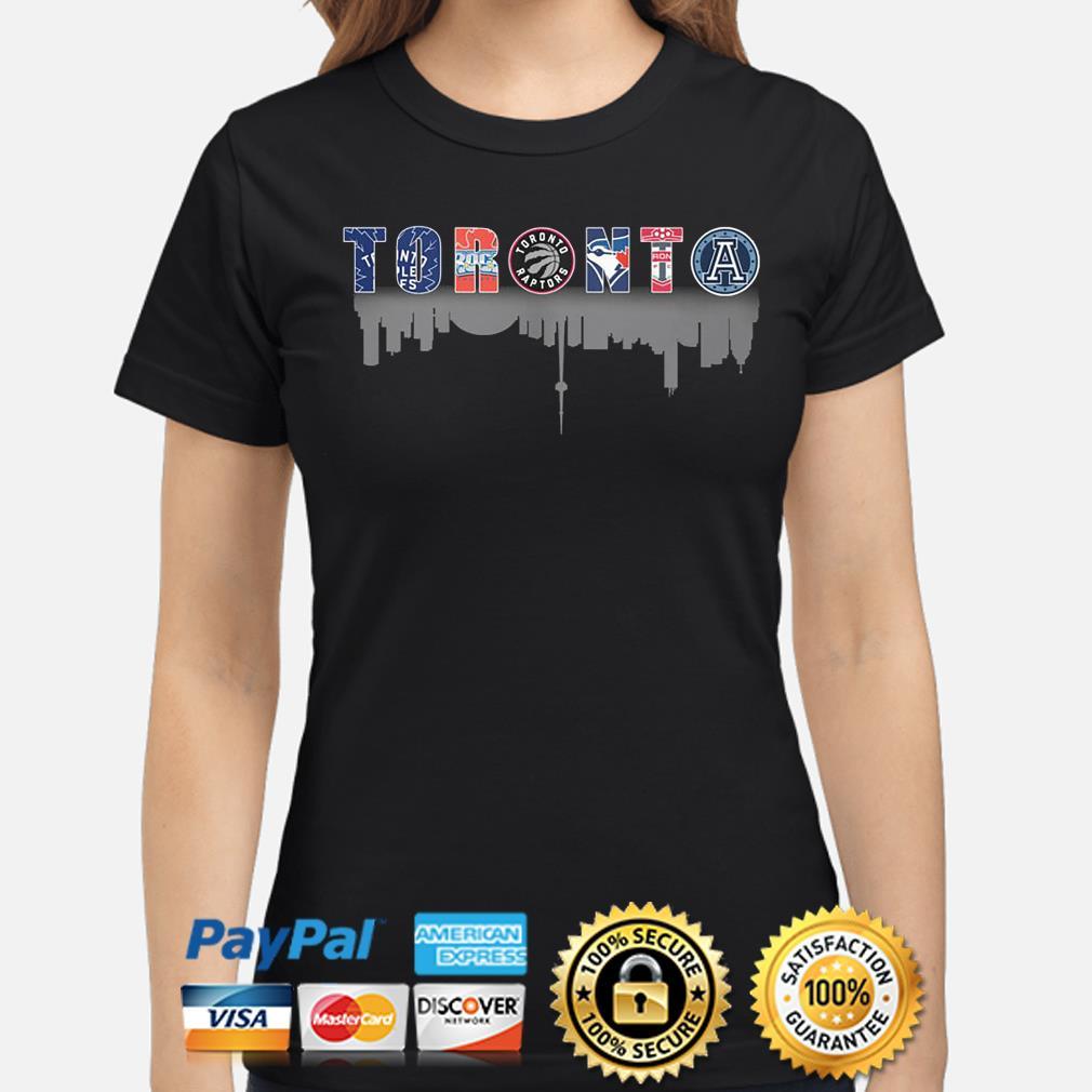 Toronto sport teams Maple Rock Leafs Raptors Argonauts s ladies-shirt