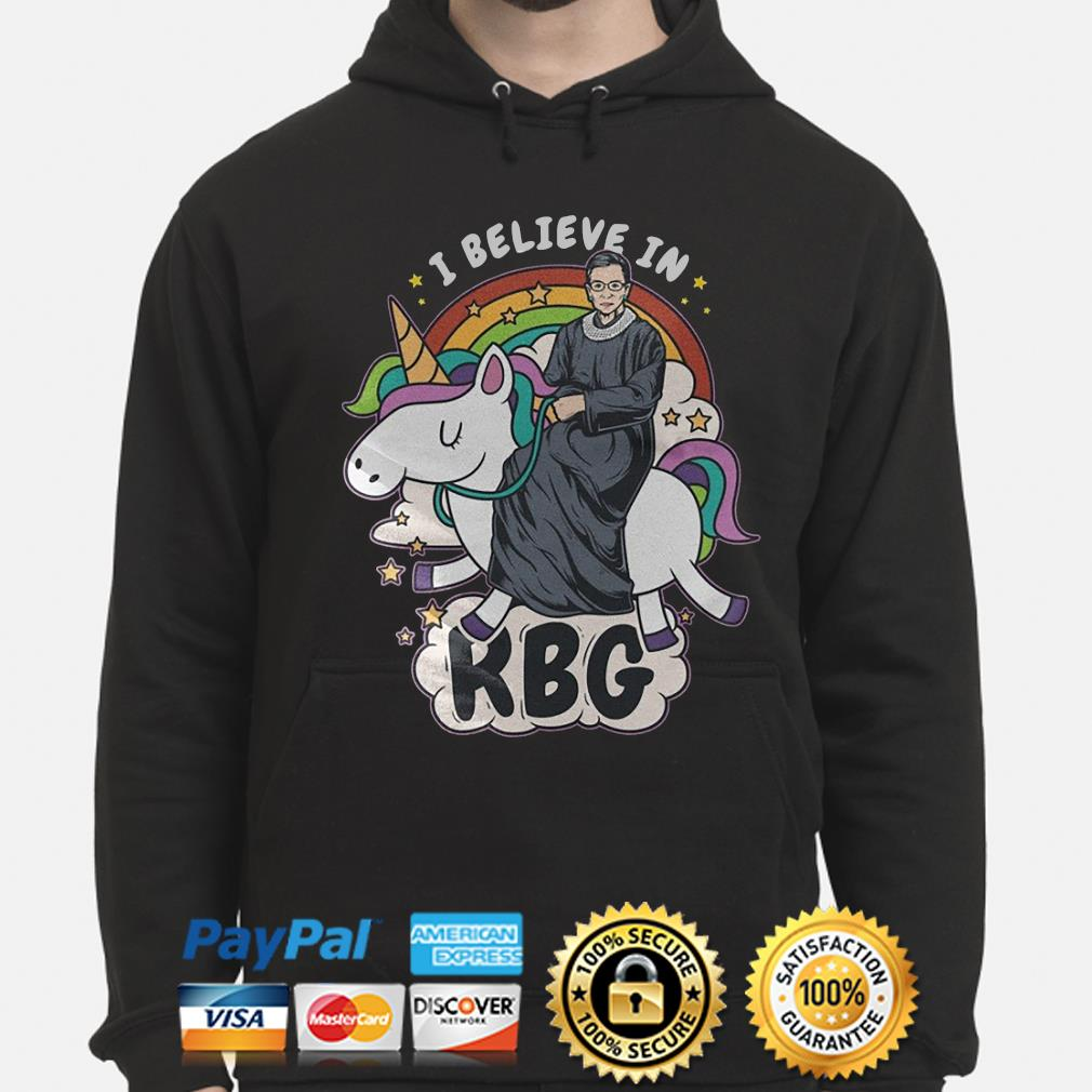 Unicorn I believe in Notorious RBG s hoodie