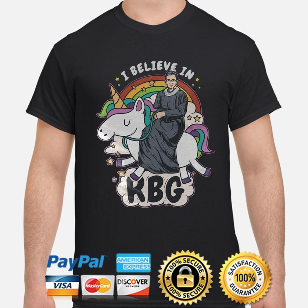 Unicorn I believe in Notorious RBG shirt