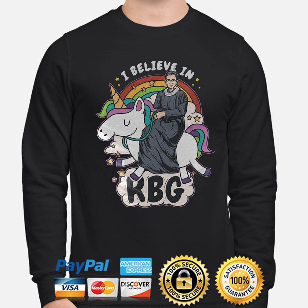 Unicorn I believe in Notorious RBG s sweater