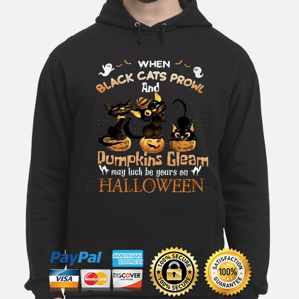 When black Cats prowl and Pumpkins Gleam Halloween s hoodie