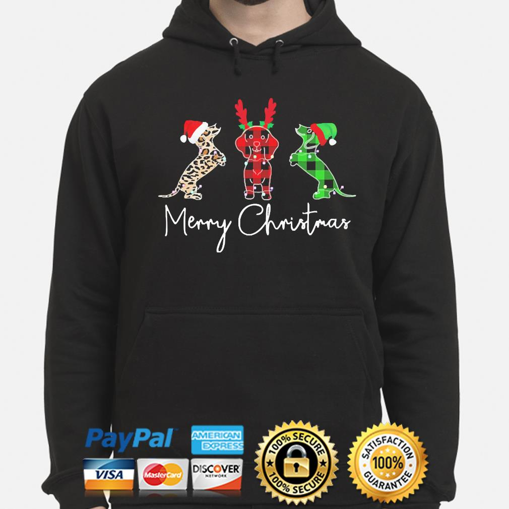 Dachshunds Merry Christmas sweater hoodie