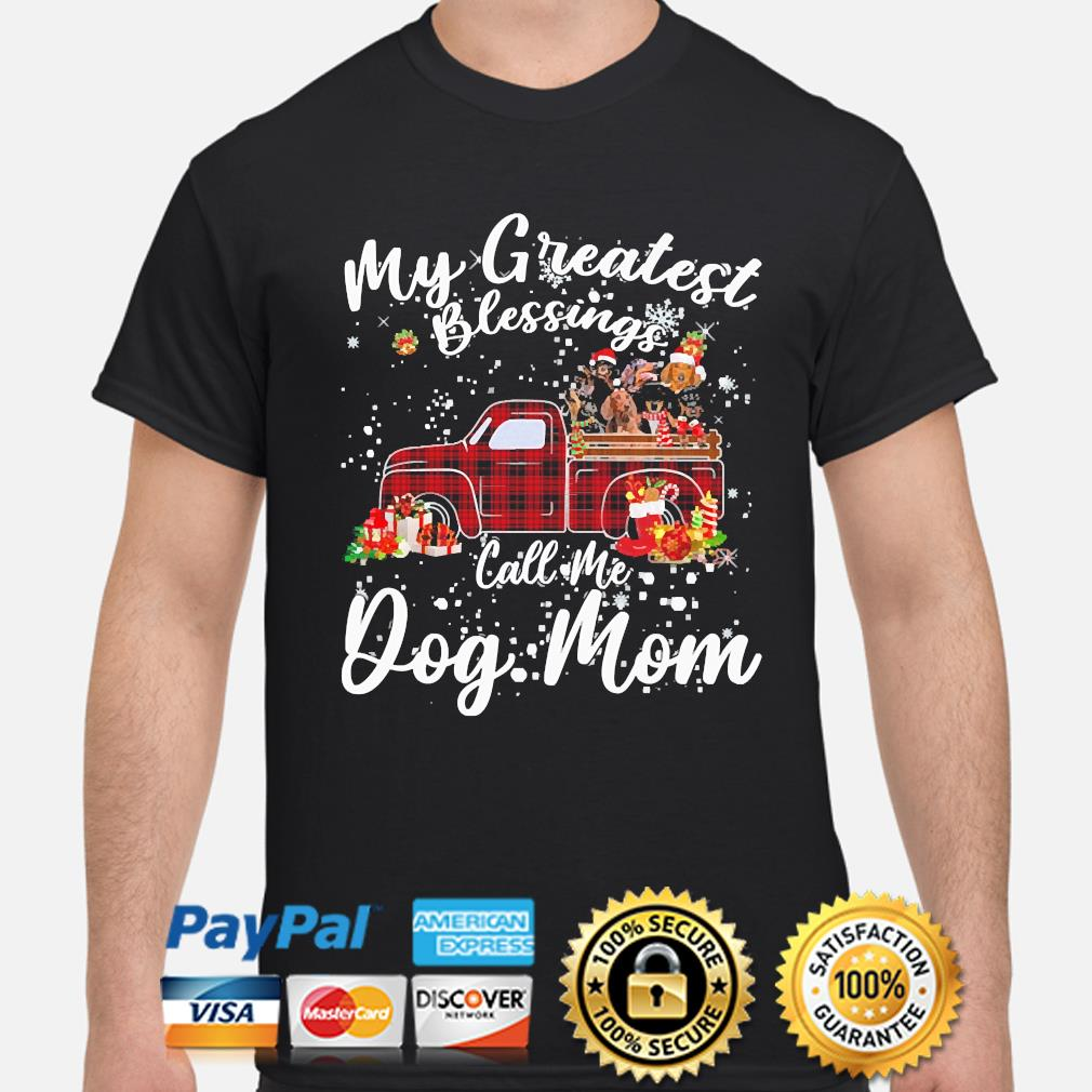 Dachshunds my greatest blessings call me Dog Mom Christmas sweater