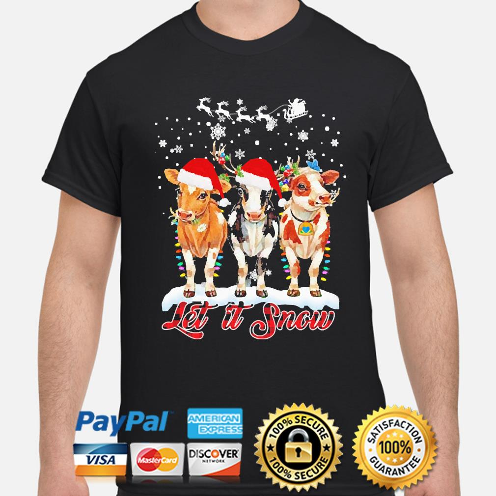 Dairy Cows let is snow Christmas sweater