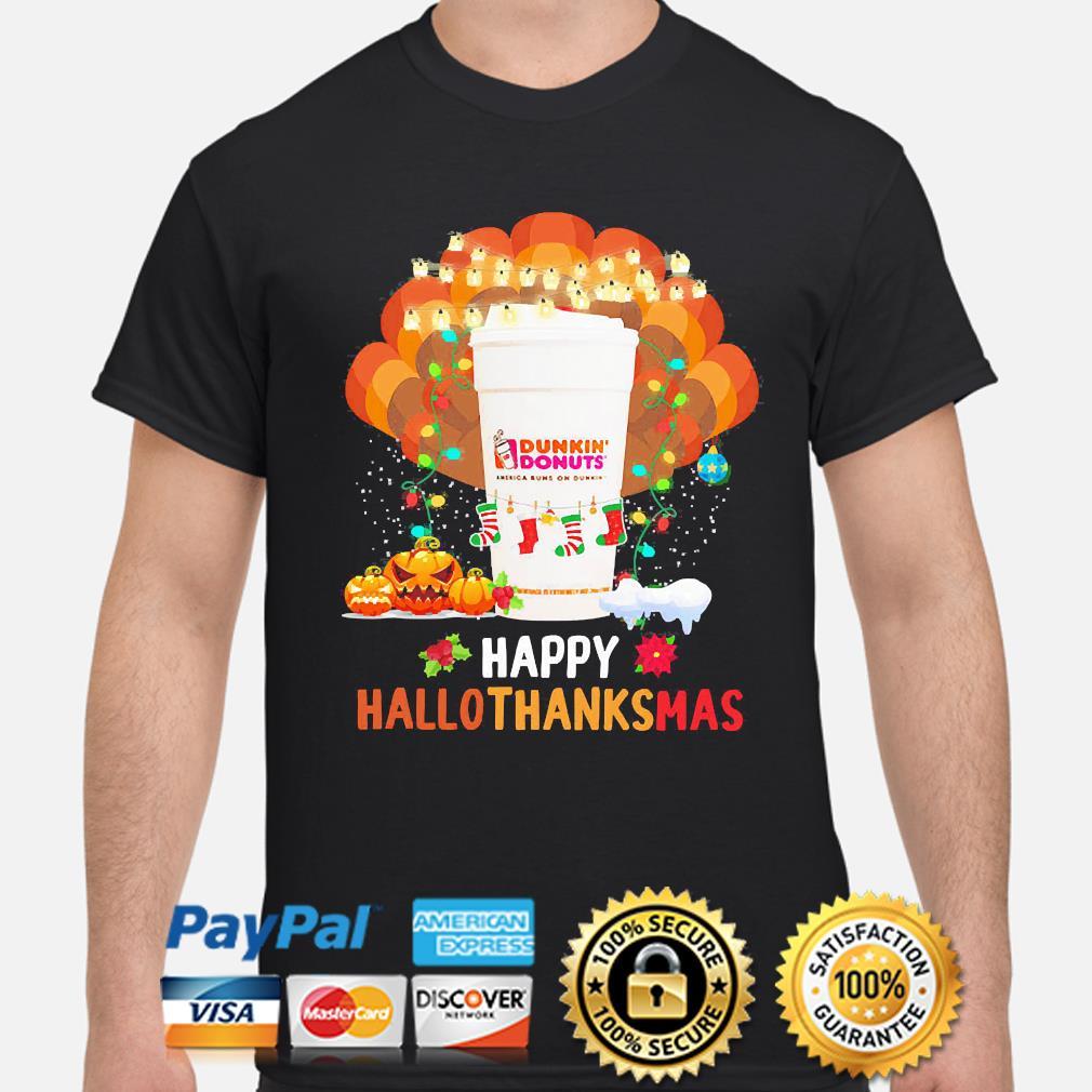 Dunkin' Donuts' Happy Hallothanksmas Halloween shirt