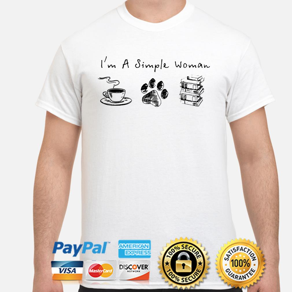I'm a simple woman Coffee Dog and Books shirt
