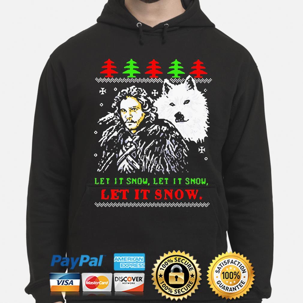 Let it snow let it snow let it snow Ugly Christmas Sweater hoodie
