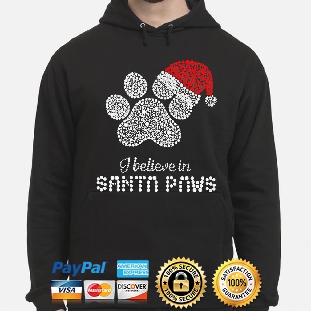Paws Diamond I believe in Santa Paws christmas sweater hoodie