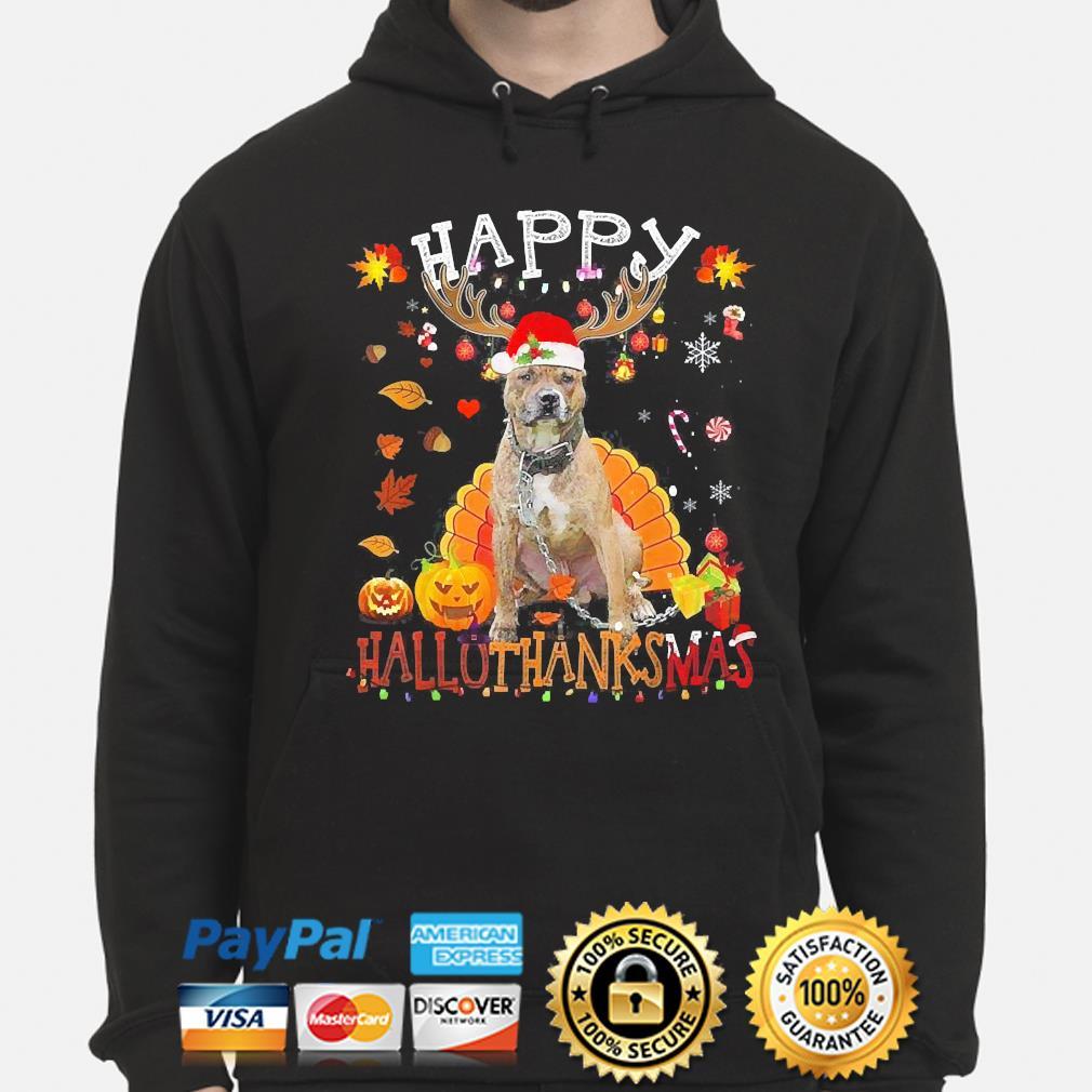 Pitbull Happy Hallothanksmas Halloween s hoodie