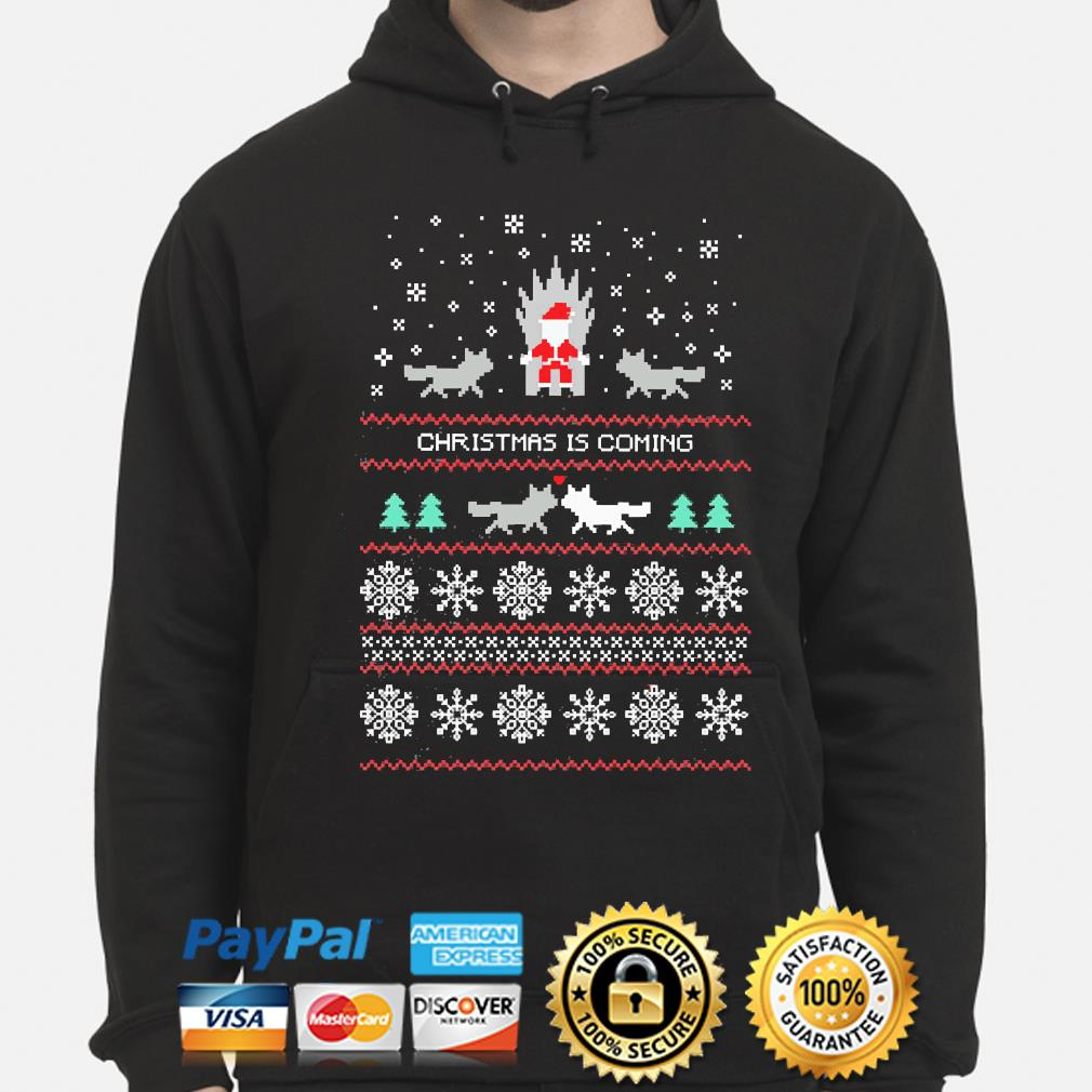Santa and Wolf Ugly Christmas sweater hoodie