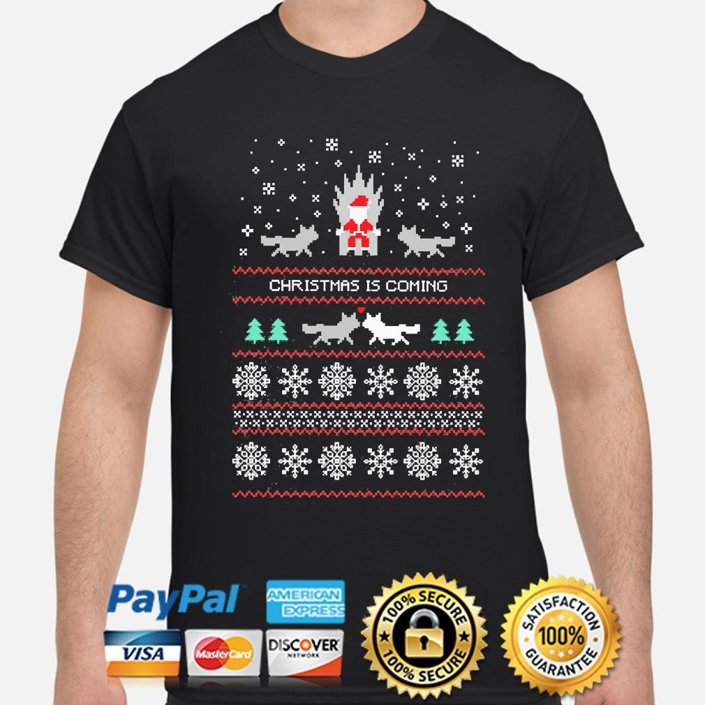 Santa and Wolf Ugly Christmas sweater