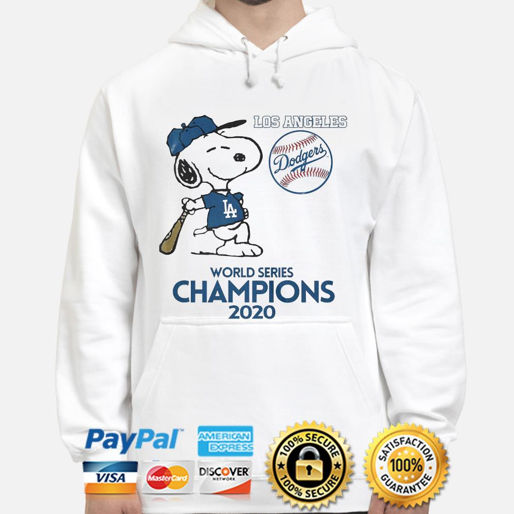 Snoopy Los Angeles Dodgers world Series Champions 2020 s hoodie