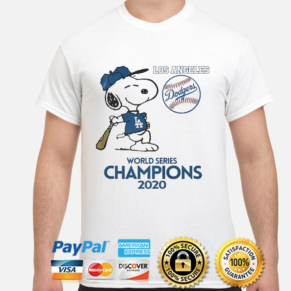 Snoopy Los Angeles Dodgers world Series Champions 2020 shirt