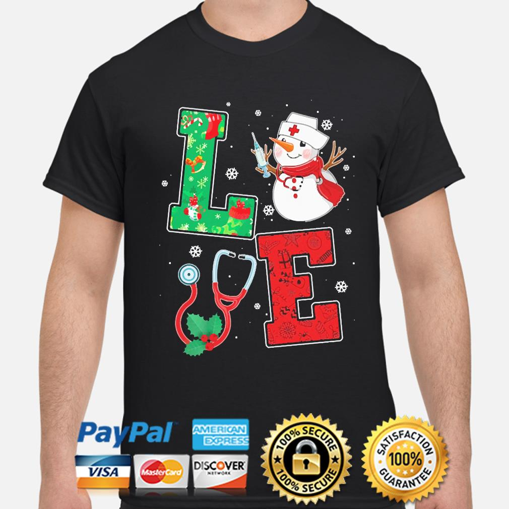 Snowman Nurse Love Christmas sweater