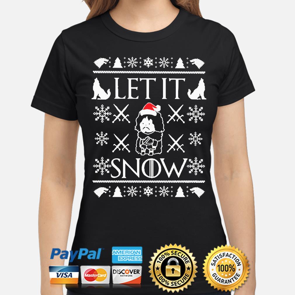 Walmart Cocaine Santa Let it Snow Ugly Christmas sweater ladies-shirt