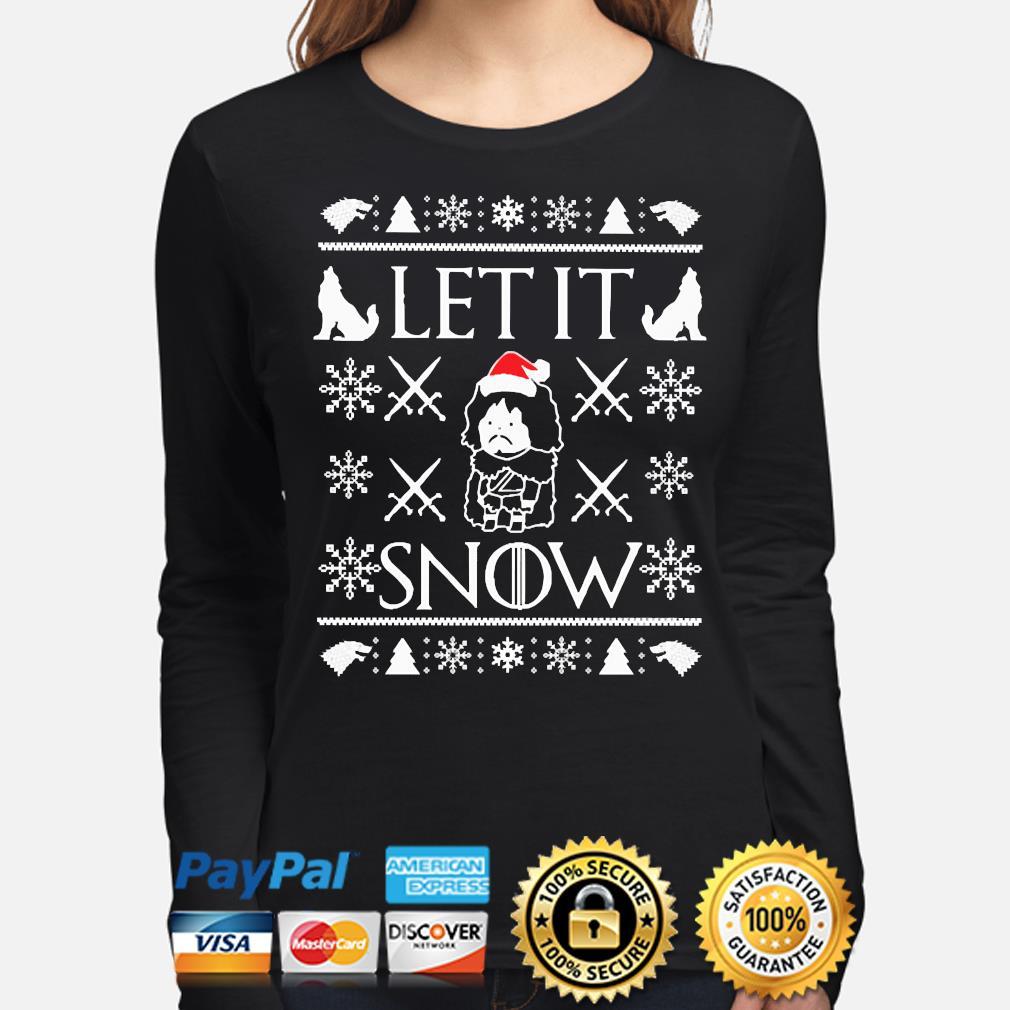 Walmart Cocaine Santa Let it Snow Ugly Christmas sweater long-sleeve