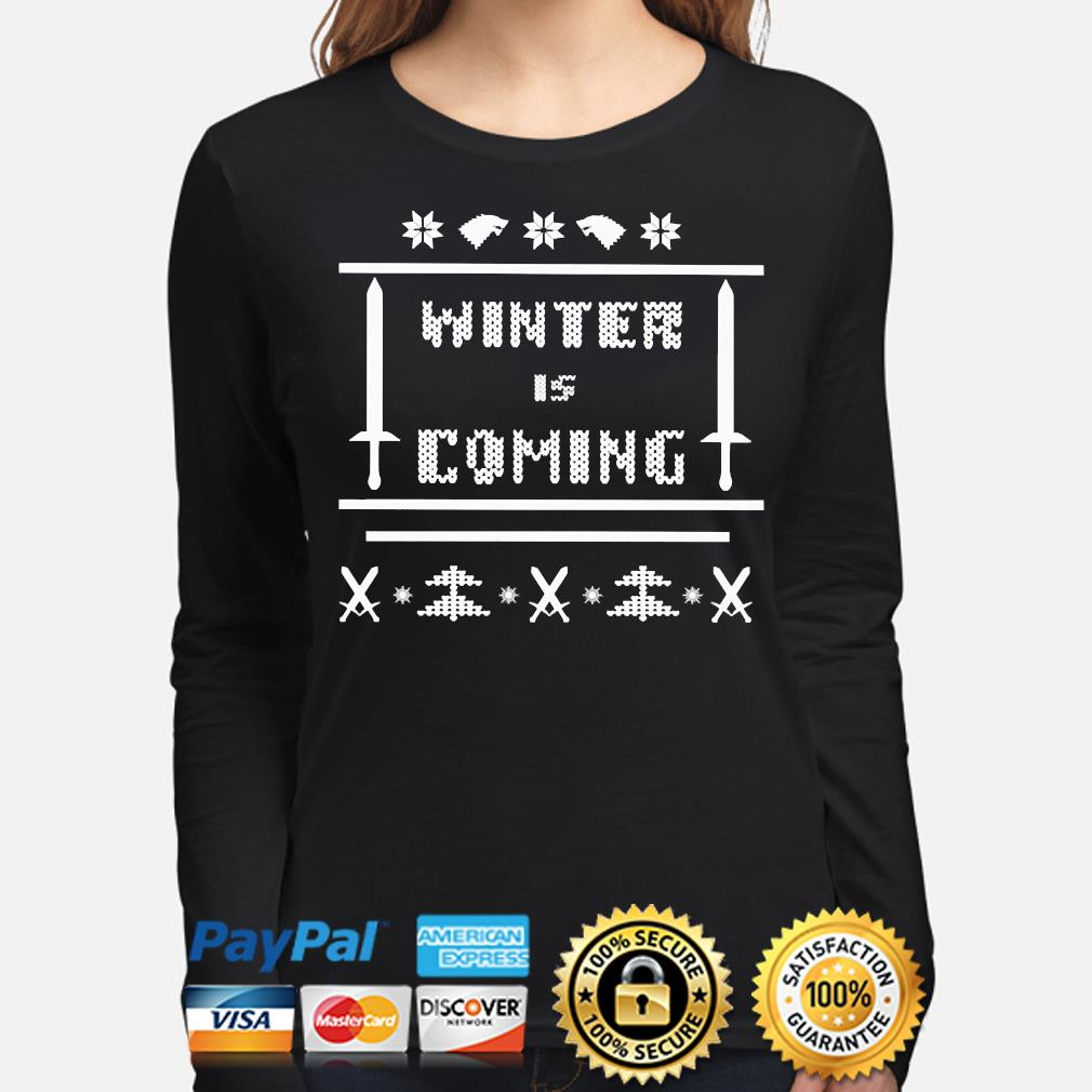 Winter is coming Ugly Christmas sweater long-sleeve