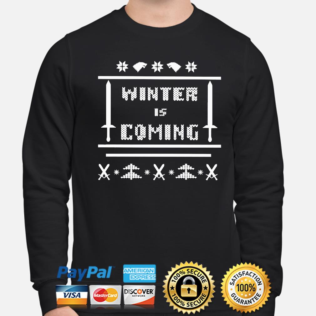 Winter is coming Ugly Christmas sweater sweater
