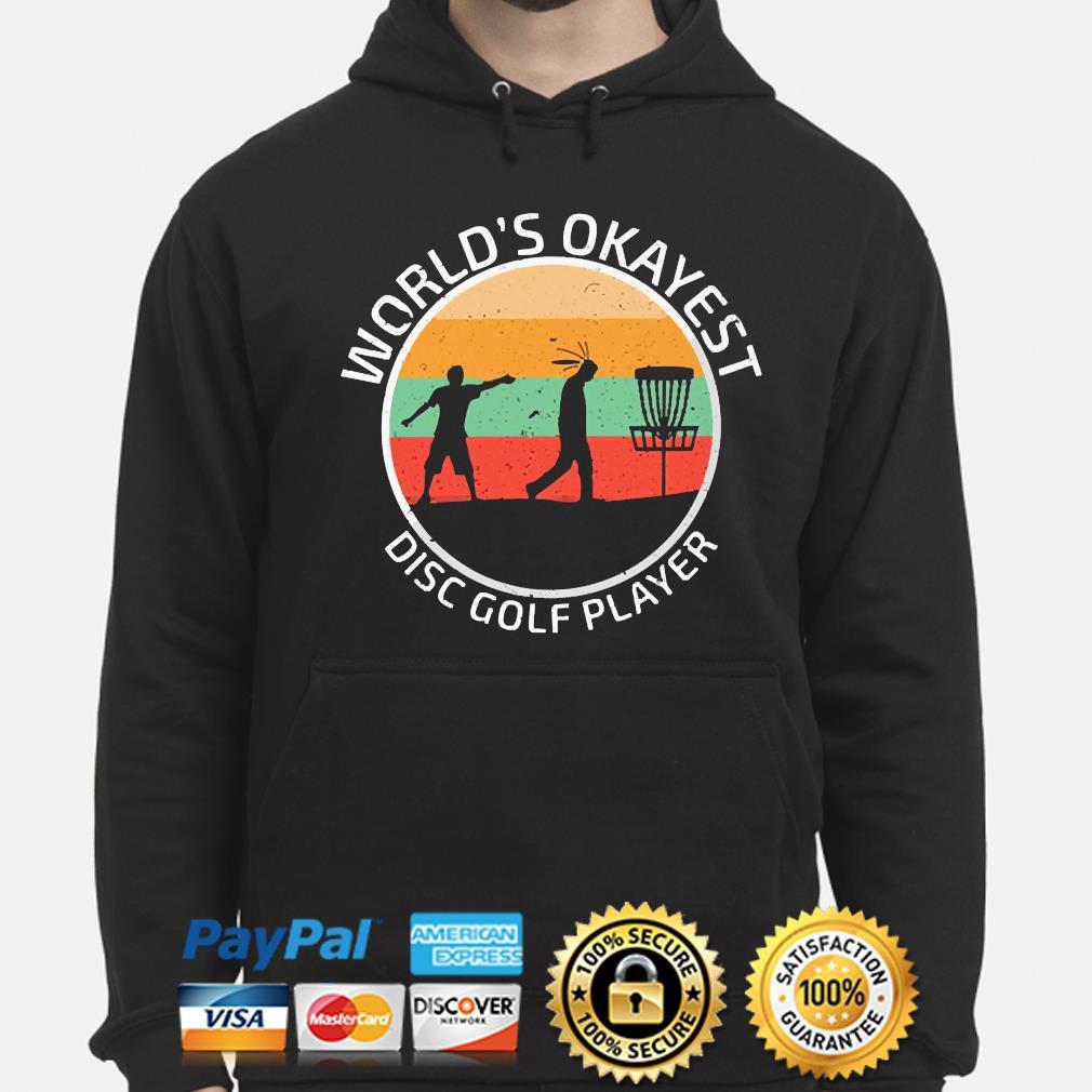 World's Okayest disc Golf player vintage s hoodie