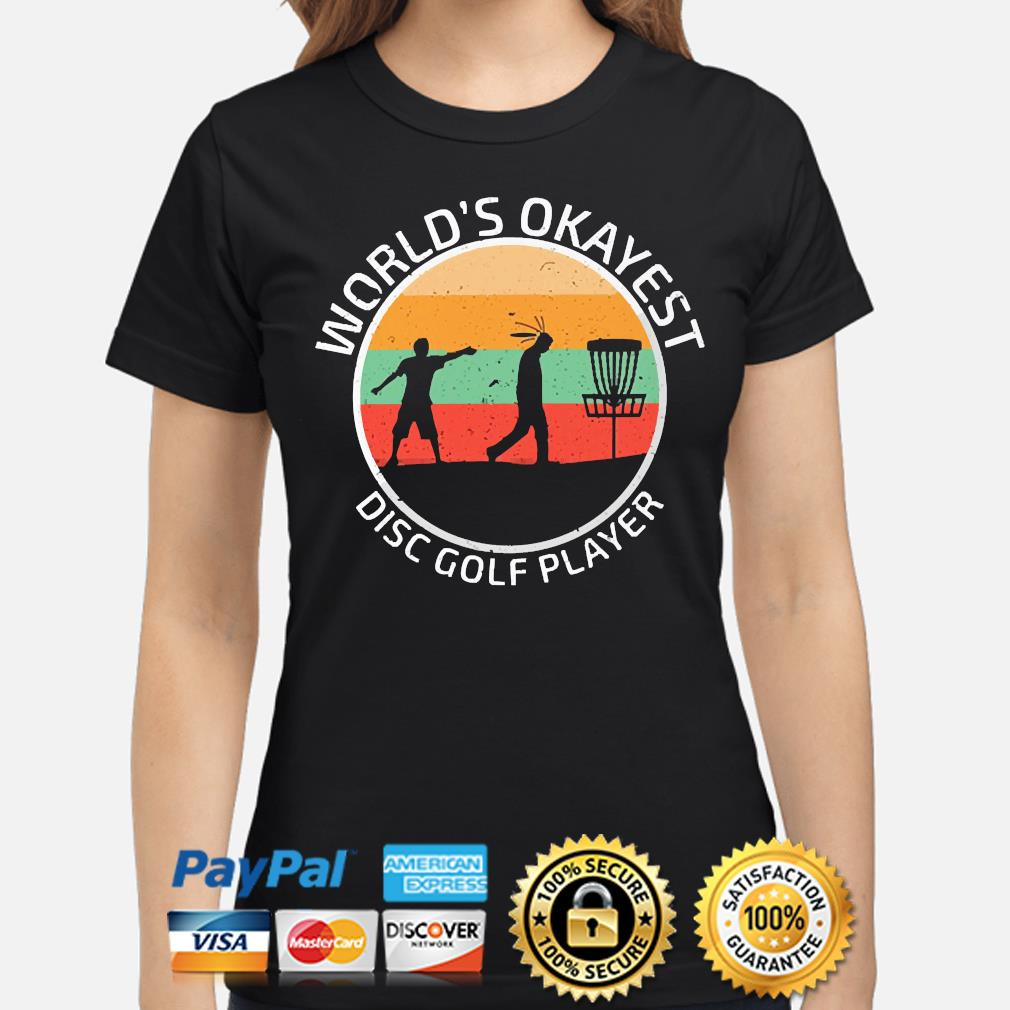 World's Okayest disc Golf player vintage s ladies-shirt