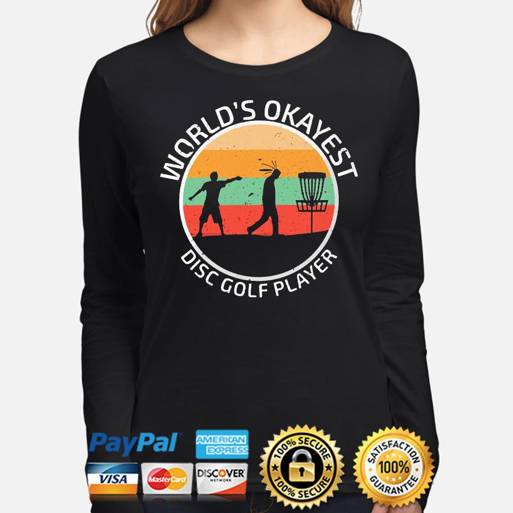 World's Okayest disc Golf player vintage s long-sleeve