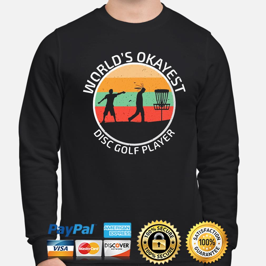 World's Okayest disc Golf player vintage s sweater