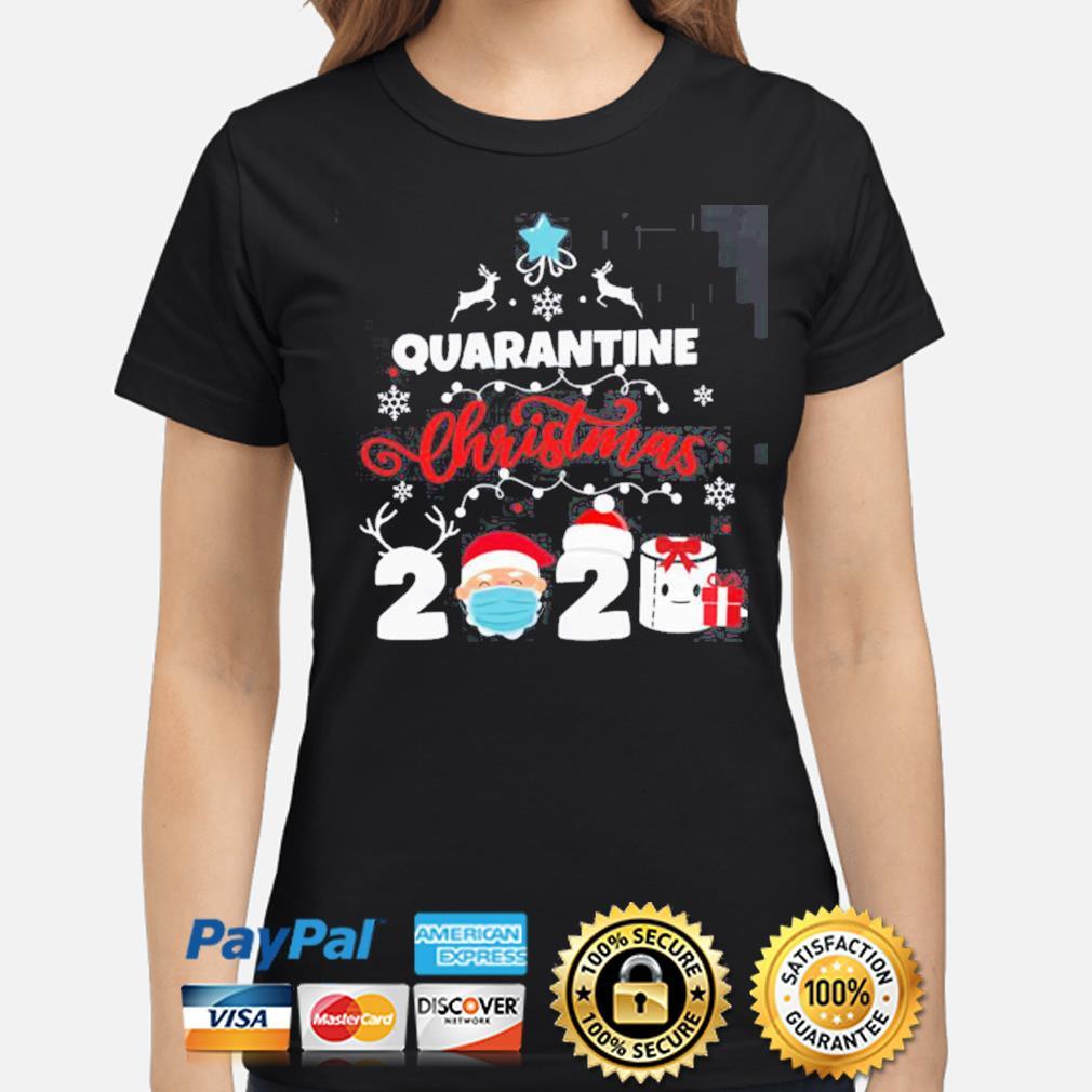 Xmas Quarantine Christmas 2020 Social distancing Christmas s ladies-shirt