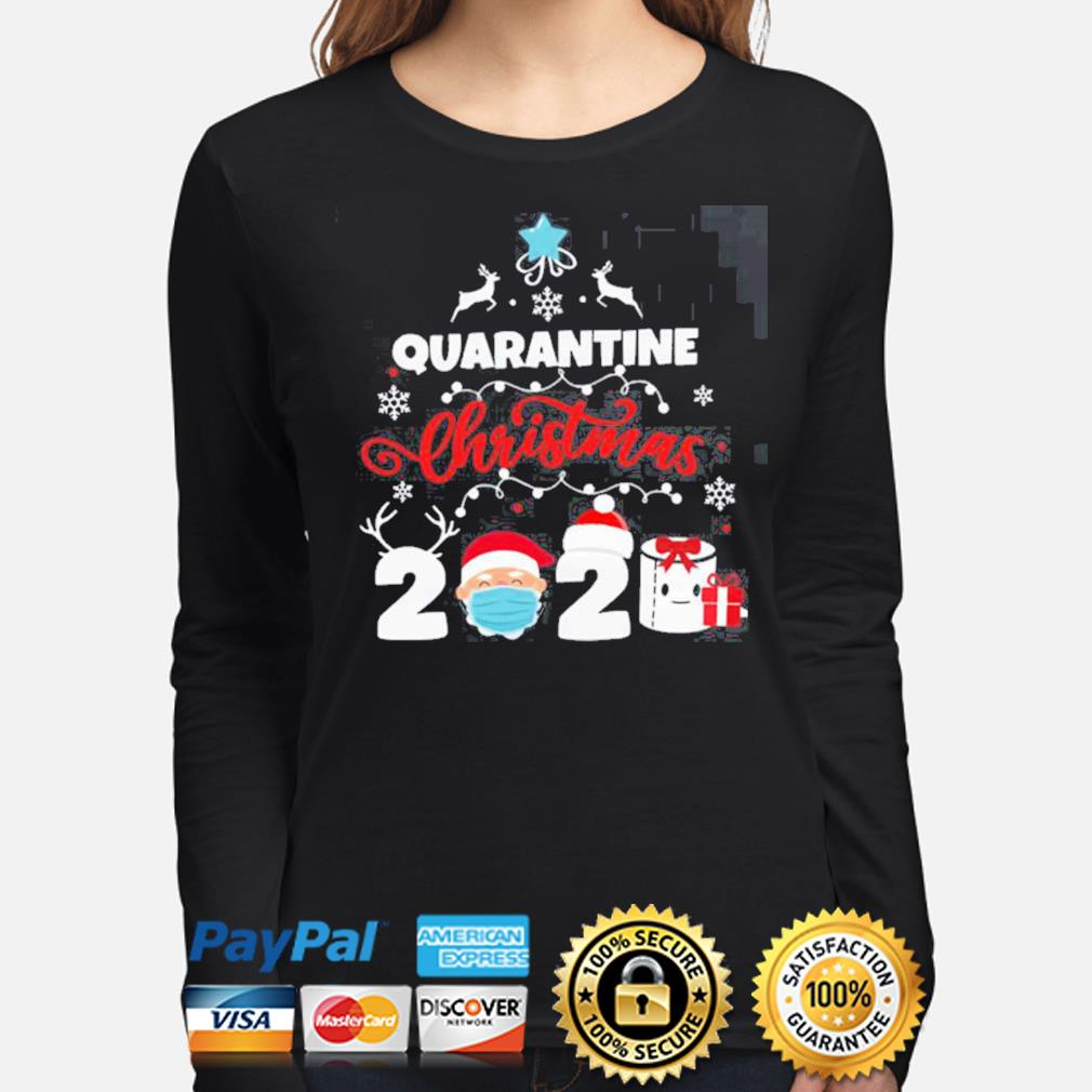 Xmas Quarantine Christmas 2020 Social distancing Christmas s long-sleeve