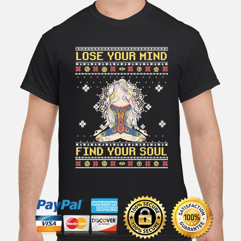 Yoga Girl Lose your mind find your soul ugly christmas sweater