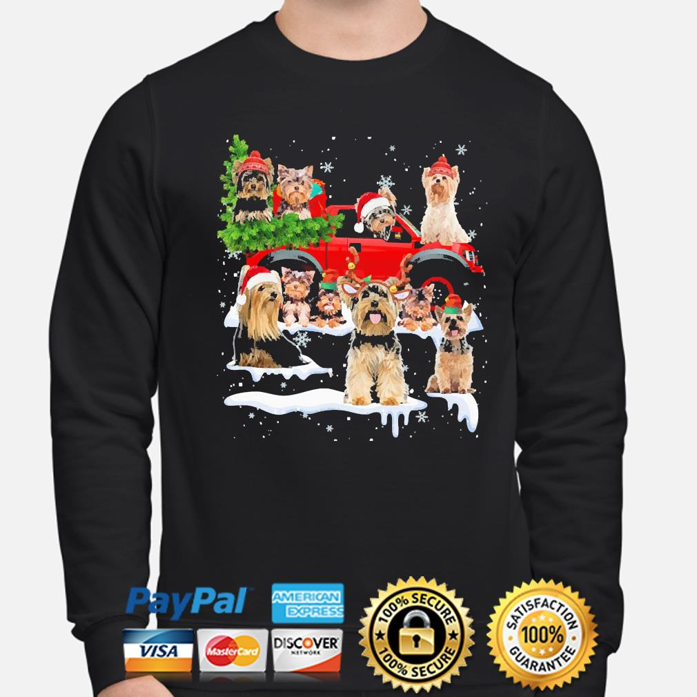 Yorkshire Terriers Dog Santa Merry Christmas sweater sweater