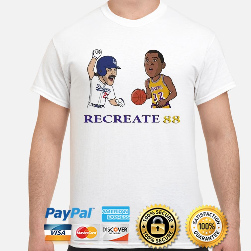Los Angeles Dodgers and Los Angeles Lakers recreate 88 shirt