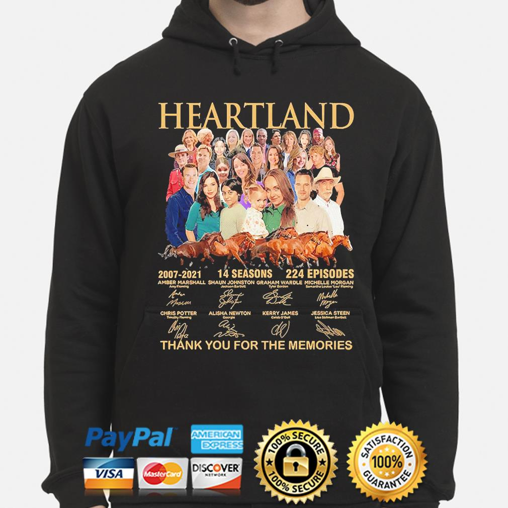 Heartland 14 seasons 224 episodes thank you for the memories signatures s hoodie