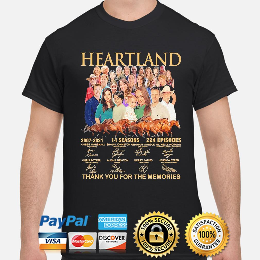 Heartland 14 seasons 224 episodes thank you for the memories signatures shirt