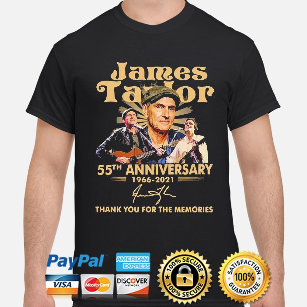 James Taylor 55th anniversary thank you for the memories signature shirt