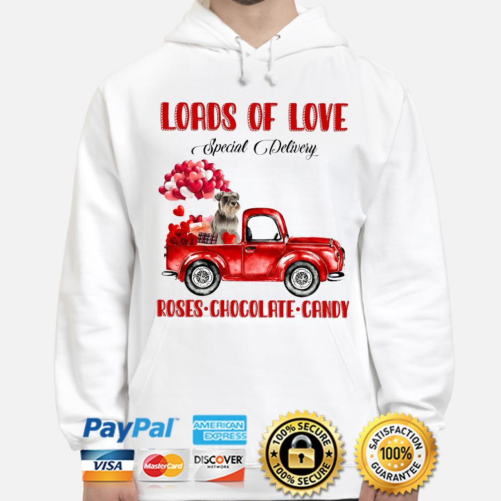 Loads of love Special Delivery roses Chocolate Candy s hoodie