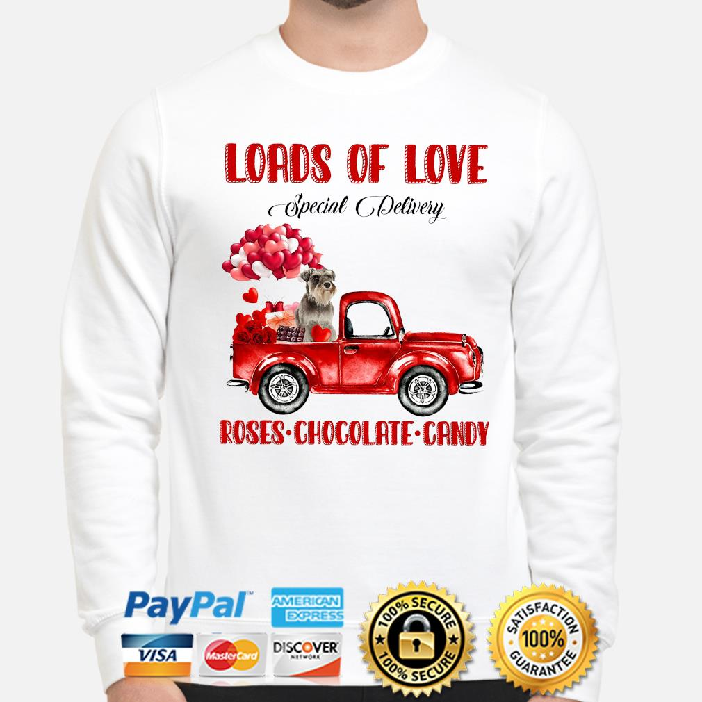 Loads of love Special Delivery roses Chocolate Candy shirt