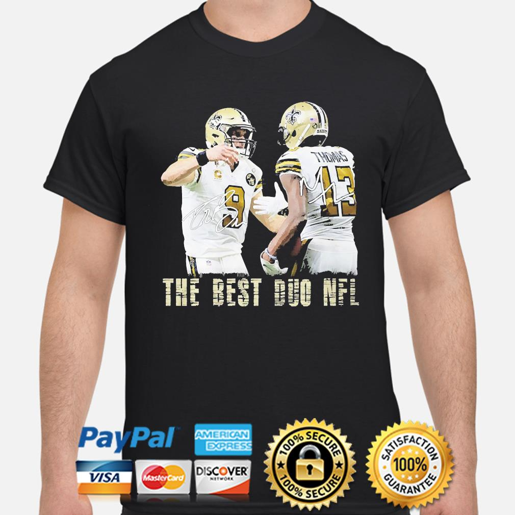 New Orleans Saints Drew Brees and Michael Thomas the best duo NFL signatures shirt