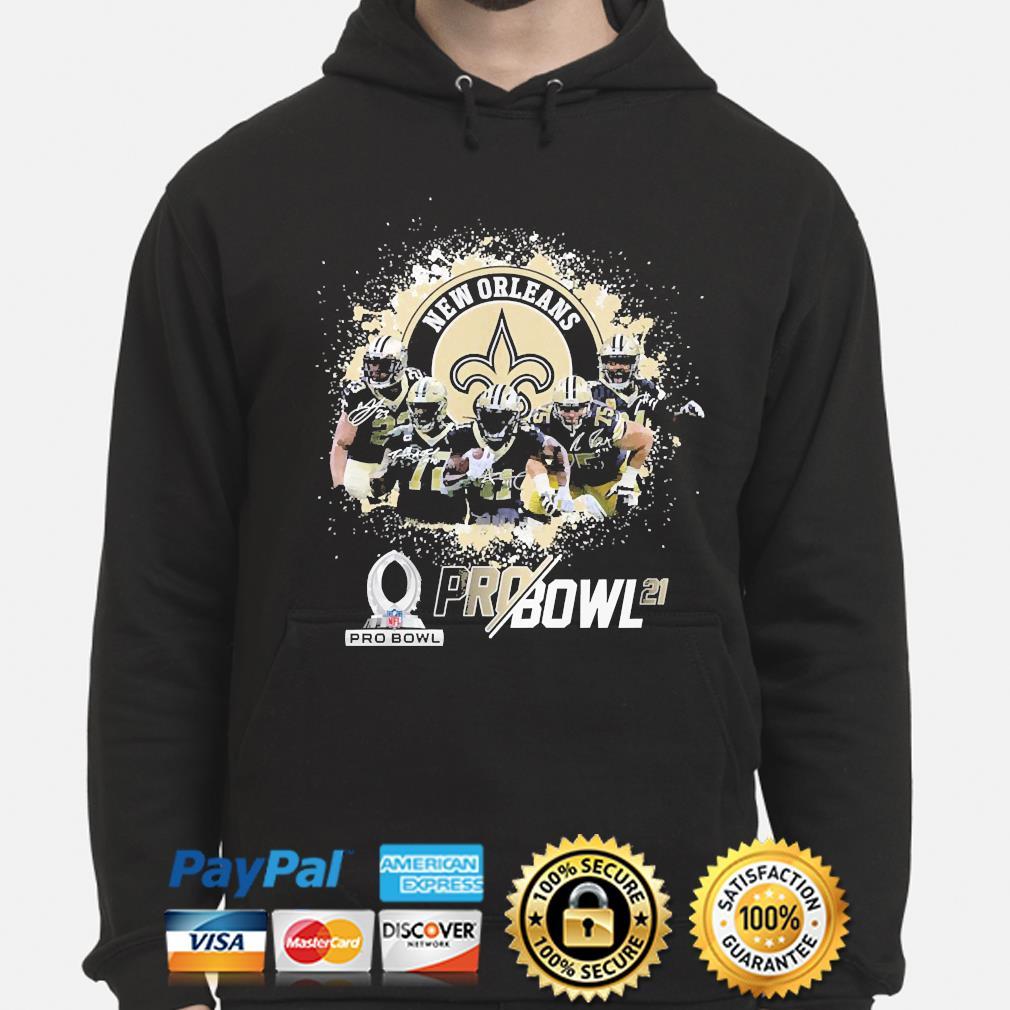 New Orleans Saints Football team signatures s hoodie
