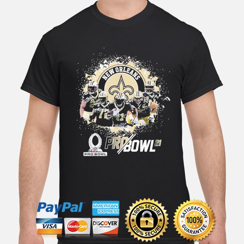 New Orleans Saints Football team signatures shirt