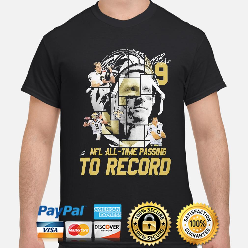 New Orleans Saints Nfl all time passing to record signature shirt
