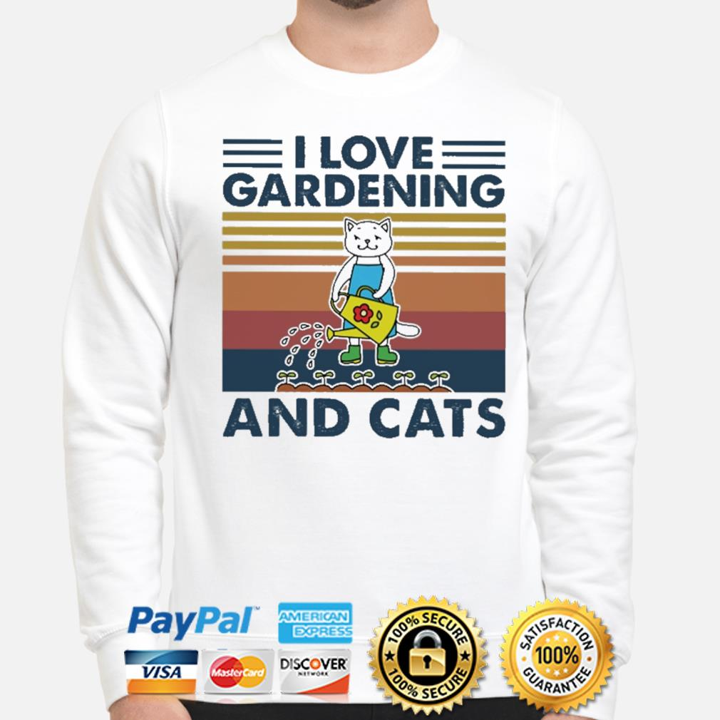 Official I love gardening and Cats vintage shirt