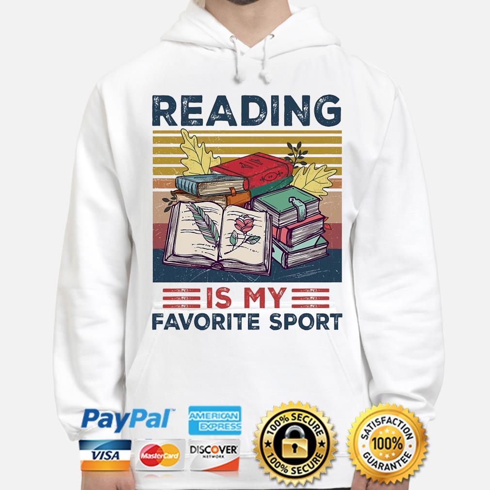 Official Reading is my favorite sport vintage s hoodie