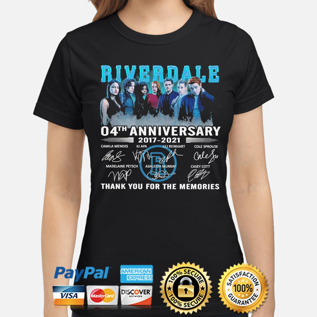 Official Riverdale 04th anniversary thank you for the memories signatures s ladies-shirt