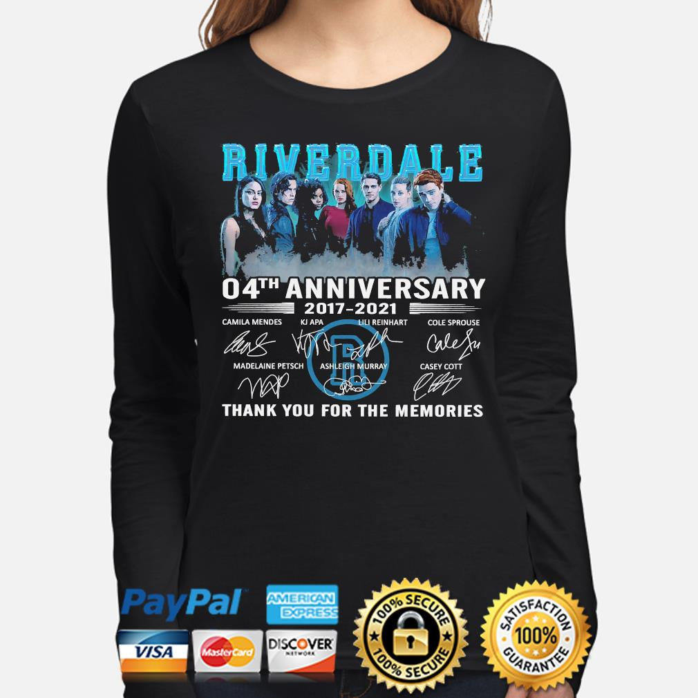Official Riverdale 04th anniversary thank you for the memories signatures s long-sleeve